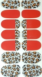 Tatuaj profi Red Animal Print